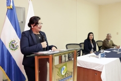 Rosario Anaya de Barillas, integrante del Pleno del TEG, durante discurso en juramentación.