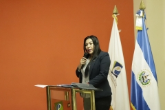 Licda. Laura Hurtado, integrante del Pleno del TEG, durante juramentación
