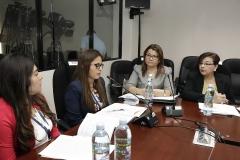 Wendy Mulato, jefe de UEL, explica aspectos técnicos del Ante Proyecto de Reforma.